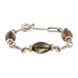 David Yurman Figaro Bracelet w/ Smoky Quartz Beads